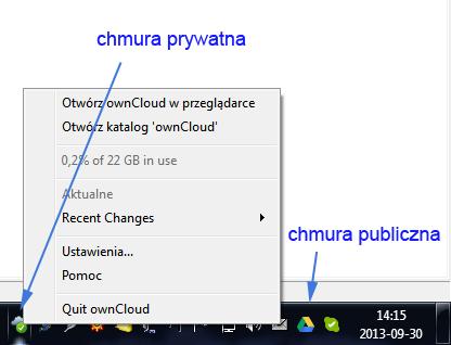 chmura prywatna - wymiana i synchronizacja plików przez Internet